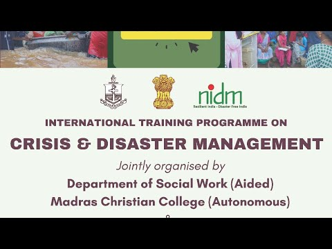 1st Day International Training Programme on Crisis and Disaster ...