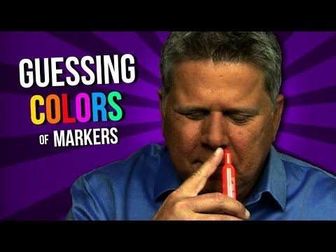 A Blind Man Tries To Guess The Colour Of Scented Markers