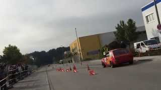 preview picture of video 'Slalom Maisach 2014 Fiat 128'