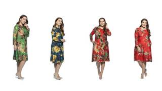 Retro Bohemian Printed Long-sleeve Autumn Wear Loose Dress