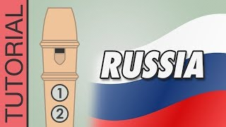 National Anthem of Russia - Recorder Notes Tutorial
