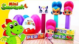 Shimmer i Shine: PEZ i Jajka Niespodzianki Zabawki Bajki Dla Dzieci Po Polsku