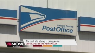 Price of stamps to drop at the post office