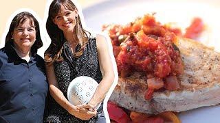 Ina Garten And Jennifer Garner Make Swordfish Provencal   Food Network