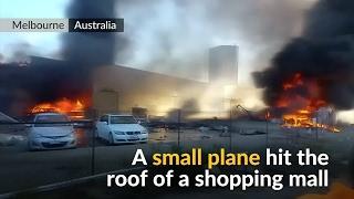 Dramatic footage of light plane crash aftermath in Australia