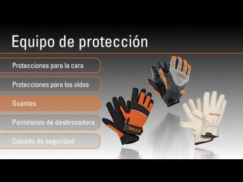 Equipo de protección para trabajar con desbrozadoras