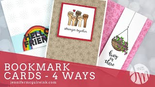 Bookmark Cards -  4 Ways