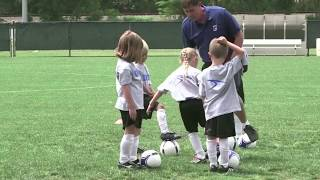 How to coach soccer for U5 U6 U7 age groups with fun drills and activities