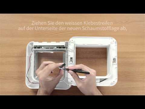 Auswechseln der Schaumstofflage - SureFlap Mikrochip Katzenklappe
