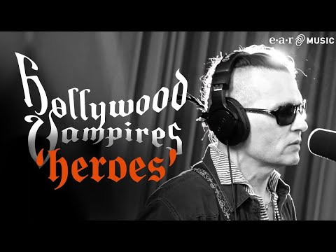 Джонни Депп поет Дэвида Боуи в клипе Hollywood Vampires