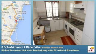 preview picture of video '3 Schlafzimmern 2 Bäder Villa zu verkaufen in Los Dolses, Alicante, Spain'