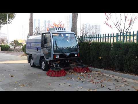 Xe quét rác 2 khối 2m3 cabin điện động cơ diesel