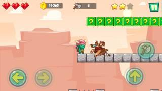 Jungle Adventures: Super World - Sahara Level 10... Gameplay (Free Game On Android)