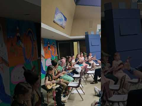 Medford Montessori Ukulele Class Concert Taught by Landon Strine