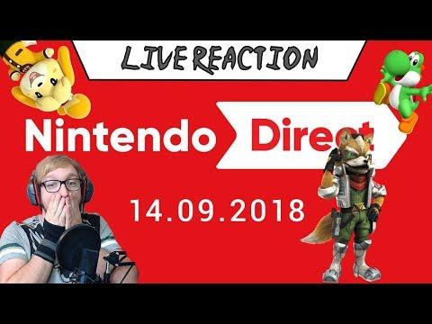 LIVE REACTION Nintendo Direct 14.09.2018 (видео)