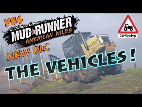 MUDRUNNER, American Wilds, A Spintires Game: PS4 (THE VEHICLES!). NEW DLC/Expansion.