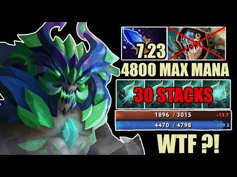 EPIC 4798 MAX MANA Outworld Devourer Easy Delete Slark And Arc Warden Crazy Pro Gameplay Dota 2 7.23