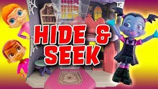 Vampirina Hide and Seek Game with Poppy, Bridget, Oxana and Boris!