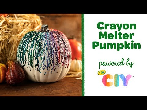 DIY Crayon Melter Pumpkin Drip Art || Crayola CIY: Create It Yourself