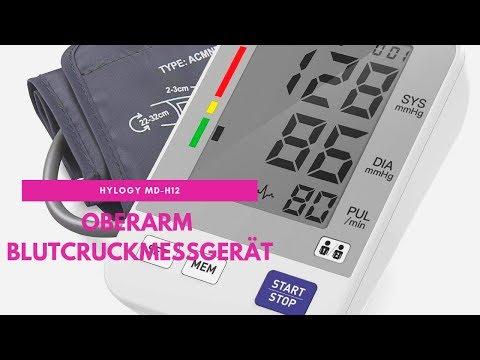 [German Review] Oberarm-Blutdruckmessgerät von HYLOGY MD-H12