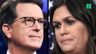Stephen Colbert Calls Out Sarah Huckabee Sanders