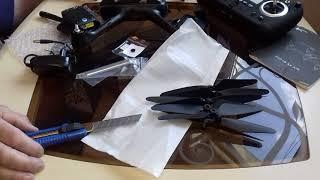 Квадрокоптер hupsan H501S pro- распаковка посылки