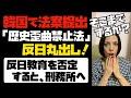 「歴史歪曲禁止法」韓国の国家議員が法案提出。反日丸出しの中身!