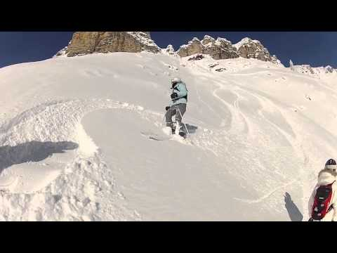 Session hors-piste à Auron