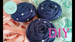 Rolled Flower Rose Fabric Tutorial