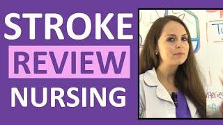 Stroke Nursing (CVA) Cerebrovascular Accident Ischemic Hemorrhagic Symptoms Treatment tPA