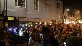 preview picture of video 'Commercial Square Bonfire Society procession at Lewes Bonfire Night 2013'