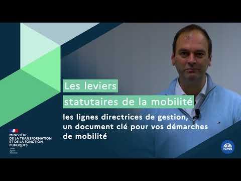 Video Les leviers statutaires de la mobilité : les lignes directrices de gestion un document clé pour vos démarches de mobilité :