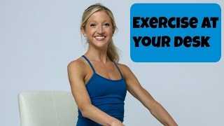 Exercise at Your Desk! Seated Office Workout for Energy by Caroline Jordan