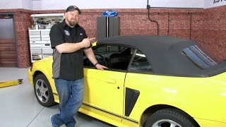 Mustang KEE Auto Top Convertible Top With Plastic Window One-Piece Vinyl 1994-2004 Installation