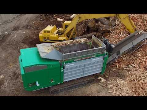 Komptech Crambo Industrial Two-Shaft Shredder for Wood Waste