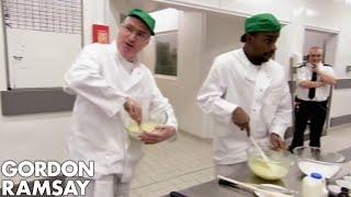 Gordon Ramsay Helps Convicts Bake Fairy Cakes | Gordon Behind Bars
