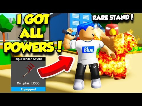 I Unlocked POWERFUL STANDS And ALL MAX POWERS In Anime Fighting Simulator Update! (Roblox)