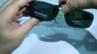 76c14b53fd08 Clip On Flip Up Polarized Sunglasses Green Lens For Prescription Glasses