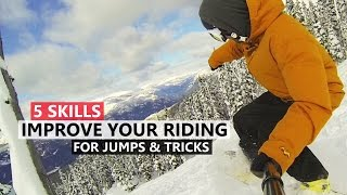 #26 Snowboard intermediate – How to improve jumps & tricks skills