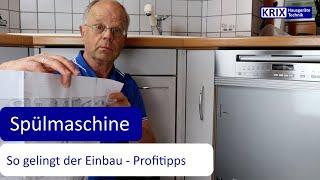 Teil 2: Spülmaschine einbauen - mit diesen Tipps vom Profi geht es ganz einfach