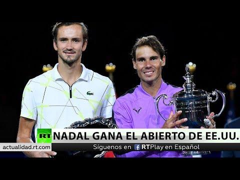 Rafa Nadal gana el US Open en un sufrido duelo ante el ruso Medvedev