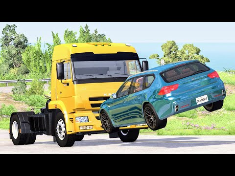 High Speed Traffic Crashes #28 - BeamNG Drive | CrashBoomPunk