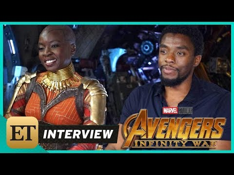 'Avengers: Infinity War': Chadwick Boseman and Danai Gurira (FULL INTERVIEW)