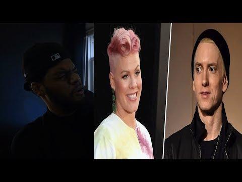 Reacting to Pink Revenge Featuring Eminem- Pink Revenge Lyrics (ft. Eminem)