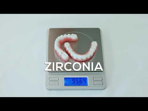 XircOn Ultra vs Zirconia Material Weight Comparison