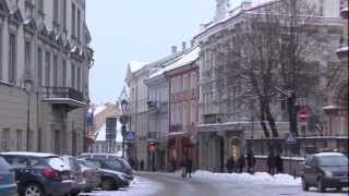 preview picture of video 'The City of Vilnius, Lithuania - 20th January, 2013'