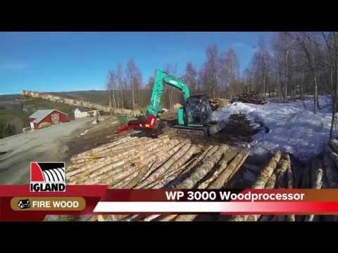 Igland WP 3000 vedprosessor  - film på YouTube