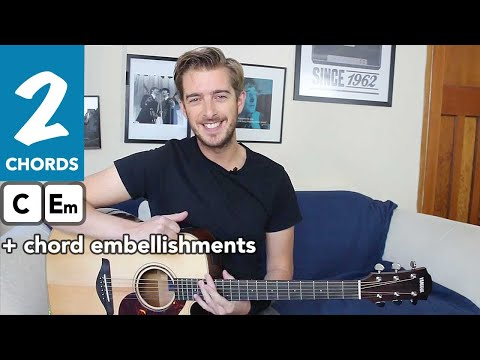 2 Chord Song On Acoustic Guitar - The Beatles Eleanor Rigby - EASY Guitar Lesson