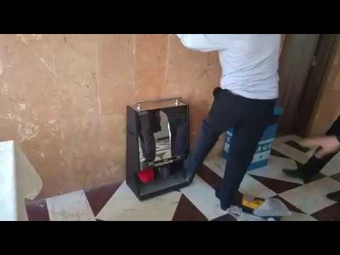 Paslanmaz Çelik Ayakkabı Cila Makinası, Fotoselli Ayakkabı Cila Makinası