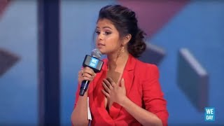 """Trust yourself"" - Selena Gomez speaks at WE Day California 2013"